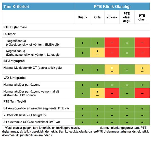 PTE dışlama kriterleri
