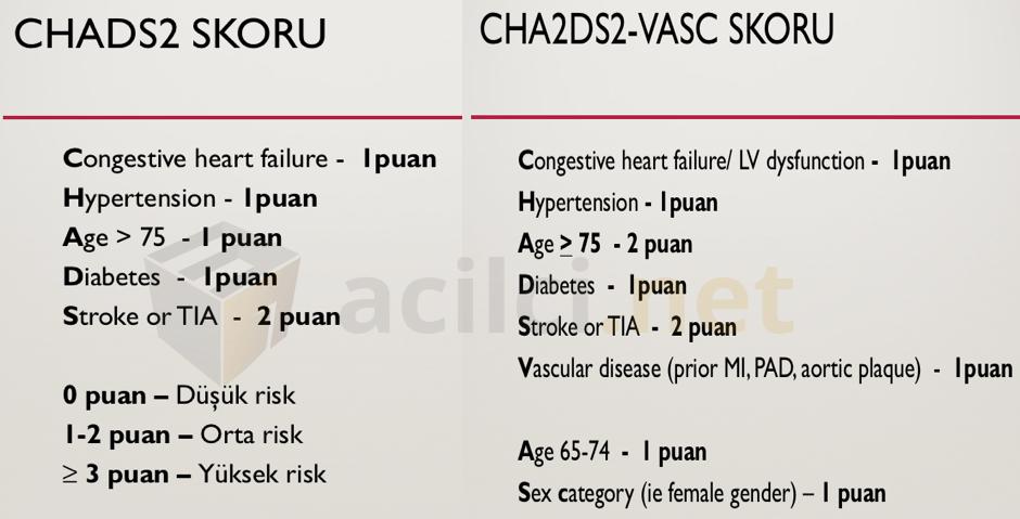 CHADS2 skor
