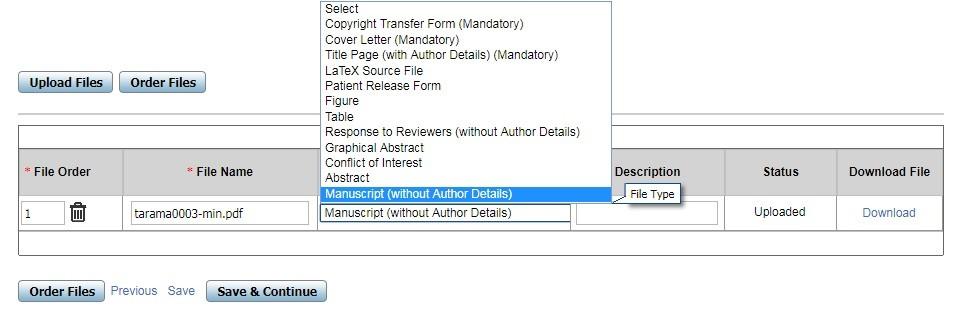 Makale, kapak yazısı, başlık sayfası ve diğer belgelerin dergi sistemine yüklenmesi